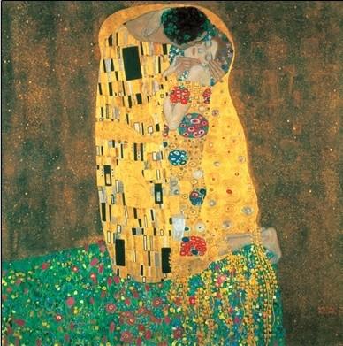 Posters Reprodukce Gustav Klimt - Polibek, (90 x 120 cm)
