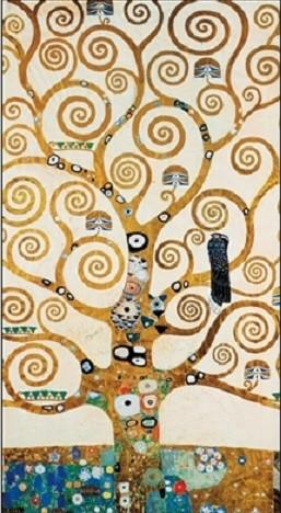 Posters Reprodukce Gustav Klimt - Strom života - vlys z paláce Stoclet, 1909, (24 x 30 cm)