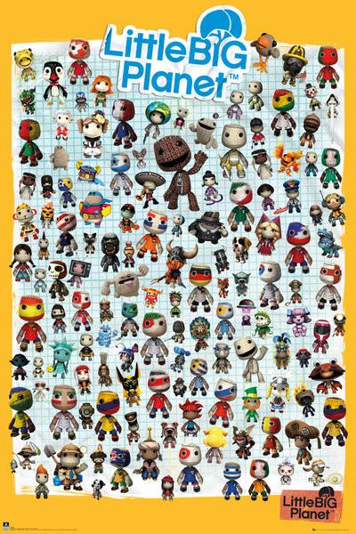 Posters Plakát, Obraz - Little Big Planet 3 - Characters, (61 x 91,5 cm)
