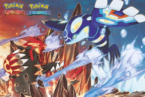 Posters Plakát, Obraz - Pokemon - Groudon and Kyogre, (91,5 x 61 cm)