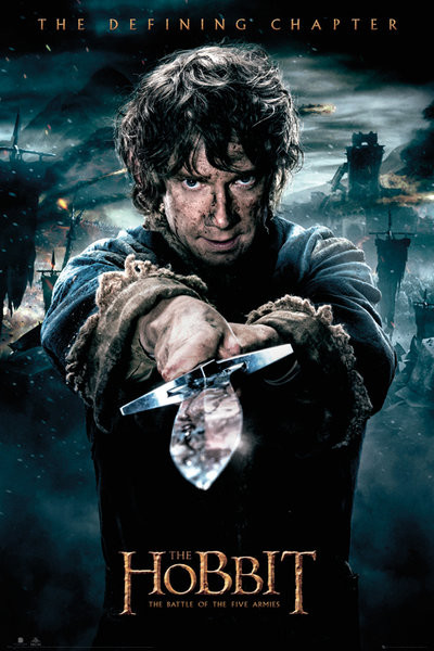 Posters Plakát, Obraz - Hobit 3: Bitva pěti armád - Bilbo, (61 x 91,5 cm)