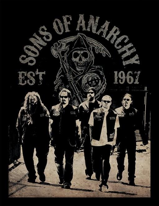 Posters Sons of Anarchy (Zákon gangu) - Reaper Crew rám s plexisklem