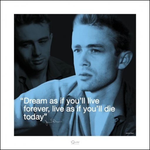 Posters Reprodukce James Dean - i.Quote, (40 x 40 cm)