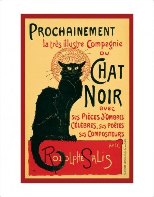 Posters Reprodukce Le Chat noir - Steinlein, (40 x 50 cm)