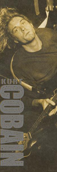 Posters Plakát, Obraz - Kurt Cobain - Brown, (53 x 158 cm)