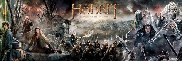 Posters Plakát, Obraz - Hobit 3: Bitva pěti armád - Collage, (158 x 53 cm)