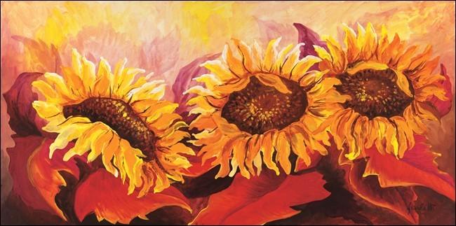 Posters Reprodukce Maria Teresa Gianola - Ohnivé slunečnice, (70 x 25 cm)
