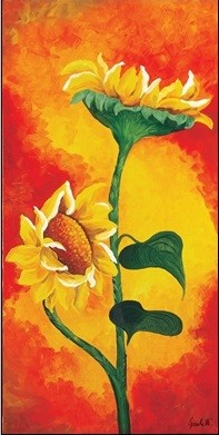 Posters Reprodukce Maria Teresa Gianola - Dvě slunečnice, (25 x 50 cm)