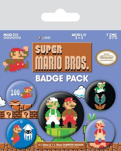 Posters Placka Super Mario Bros. - Retro