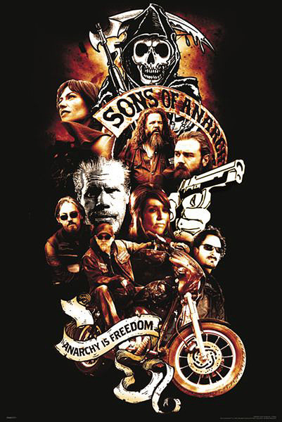 Posters Plakát, Obraz - Sons of Anarchy (Zákon gangu) - Anarchy is Freedom, (61 x 91,5 cm)