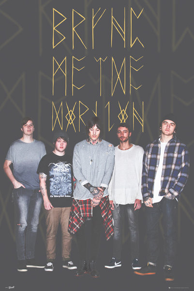 Posters Plakát, Obraz - Bring Me The Horizon - Group Black, (61 x 91,5 cm)