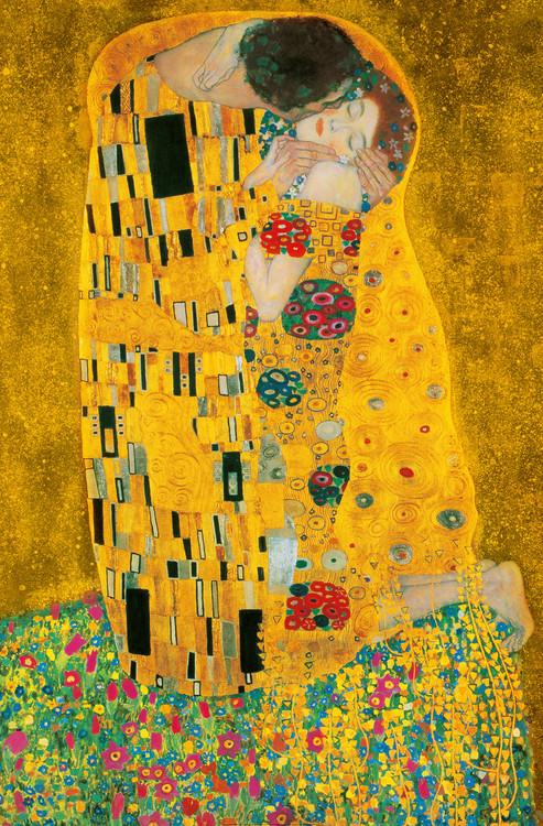 Posters Fototapeta Gustav Klimt - Polibek, 1907-1908, (115 x 175 cm)