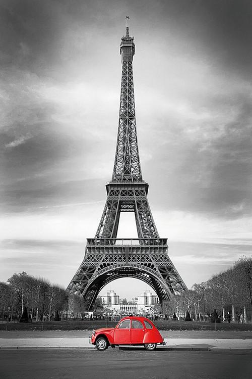 Posters Skleněný Obraz Paříž - b&w, (60 x 90 cm)