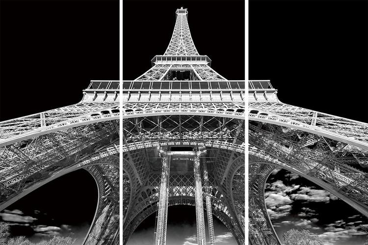 Posters Skleněný Obraz Paříž - Pod Eiffelovou věží, (160 x 240 cm)