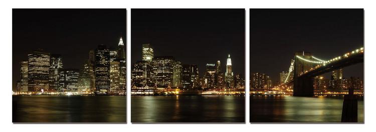 Posters Obraz New York - Manhattan Skyline, (180 x 60 cm)