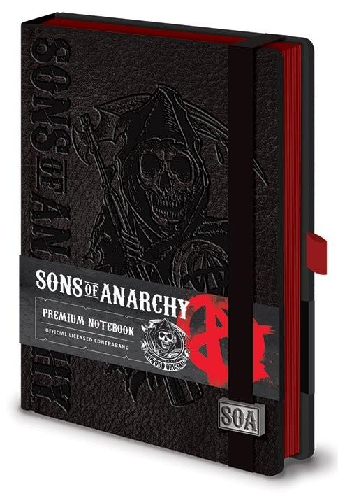 Posters Sons of Anarchy (Zákon gangu) - Premium A5 Notebook Psací potřeby