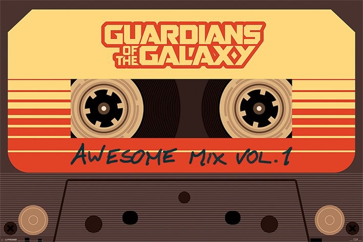 Posters Plakát, Obraz - Strážci Galaxie - Awesome Mix Vol 1, (91,5 x 61 cm)