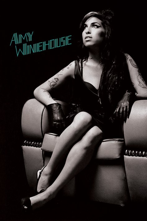Posters Plakát, Obraz - Amy Winehouse - Chair, (61 x 91,5 cm)