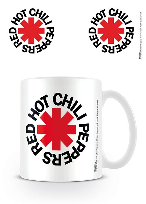 Posters Hrnek Red Hot Chili Peppers - Logo White