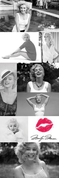 Posters Plakát, Obraz - Marilyn Monroe - Tiles, (53 x 158 cm)