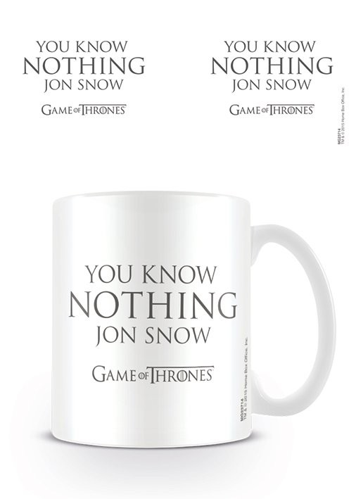Posters Hrnek Hra o Trůny (Game of Thrones) - You Know Nothing Jon Snow