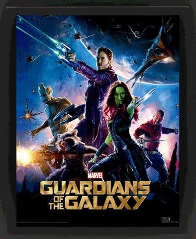 Posters 3D plakát s rámem Strážci Galaxie, (20 x 25 cm)