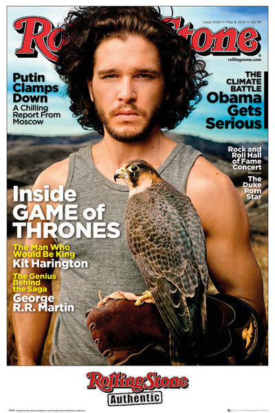 Posters Plakát, Obraz - Rolling Stone - Game of Thrones Jon Stark, (61 x 91,5 cm)