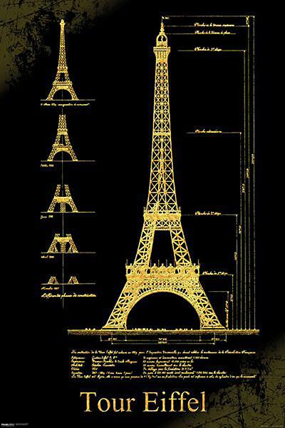 Posters Plakát, Obraz - Paříž - Eiffelova věž, (61 x 91,5 cm)