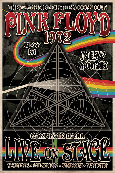Posters Plakát, Obraz - Pink Floyd - Tha Dark Side of the Moon Tour, (61 x 91,5 cm)