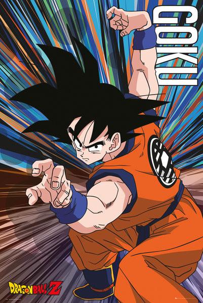 Posters Plakát, Obraz - Dragon Ball Z - Goku Jump, (61 x 91,5 cm)