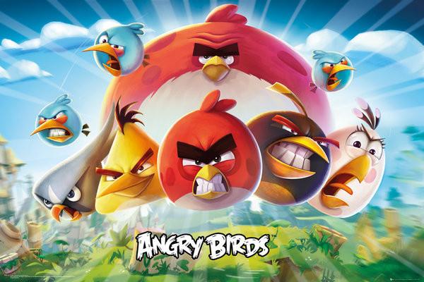 Posters Plakát, Obraz - Angry Birds - Keyart, (91,5 x 61 cm)