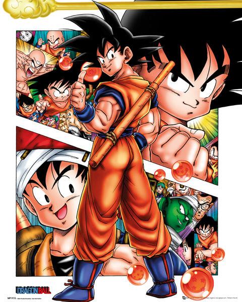 Posters Plakát, Obraz - Dragon Ball - Collage, (40 x 50 cm)