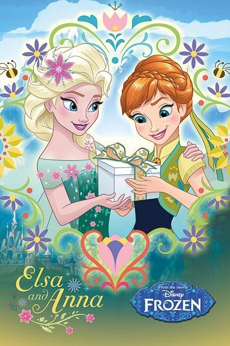 Posters Plakát, Obraz - Ledové království - Anna & Elsa Frame, (61 x 91,5 cm)