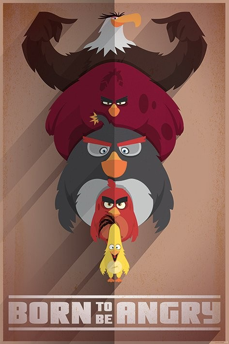 Posters Plakát, Obraz - Angry Birds - Born to be Angry, (61 x 91,5 cm)