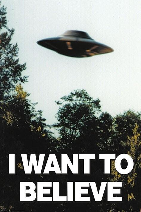 Posters Plakát, Obraz - The X-Files - I Want To Believe, (61 x 91,5 cm)