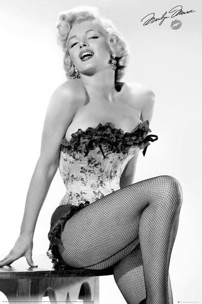 Posters Plakát, Obraz - Marilyn Monroe - Table, (61 x 91,5 cm)