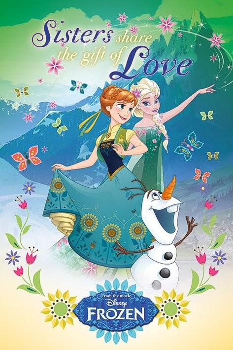 Posters Plakát, Obraz - Ledové království - Gift Of Love, (61 x 91,5 cm)