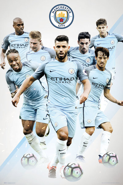Posters Plakát, Obraz - Manchester City - Players, (61 x 91,5 cm)