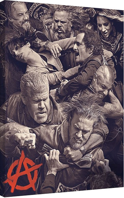 Posters Obraz na plátně Sons of Anarchy (Zákon gangu) - Fight, (60 x 80 cm)