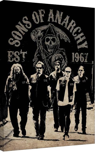 Posters Obraz na plátně Sons of Anarchy (Zákon gangu) - Reaper Crew, (60 x 80 cm)