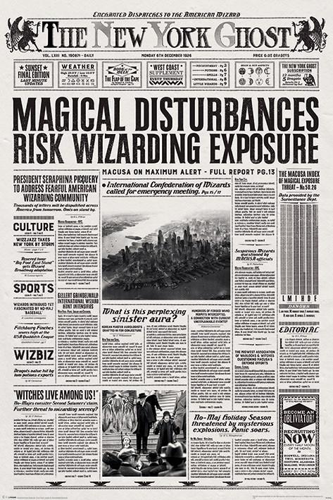 Posters Plakát, Obraz - Fantastická zvířata a kde je najít - The New York Ghost, (61 x 91,5 cm)