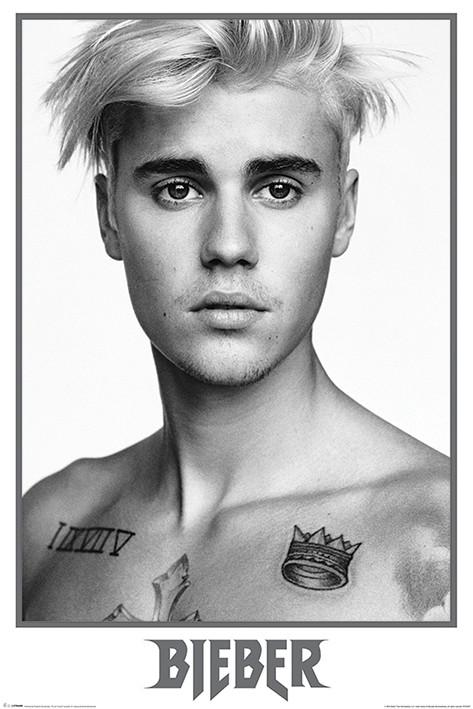 Posters Plakát, Obraz - Justin Bieber - Bieber Black and White, (61 x 91,5 cm)