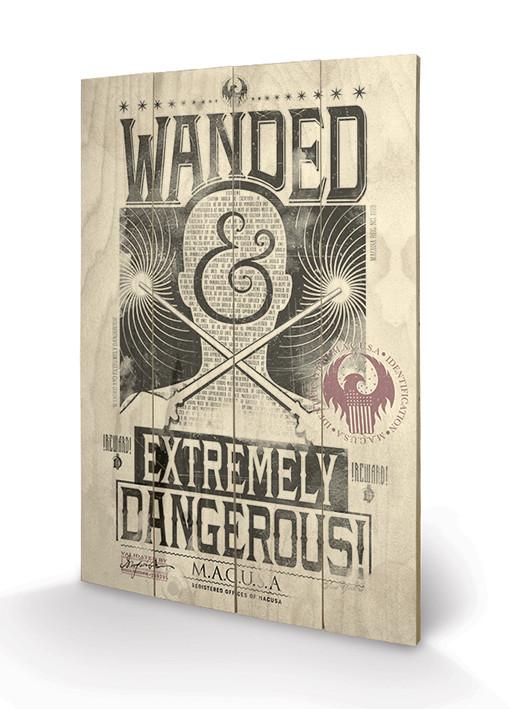 Posters Obraz na dřevě - Fantastická zvířata a kde je najít - Extremely Dangerous, (40 x 59 cm)