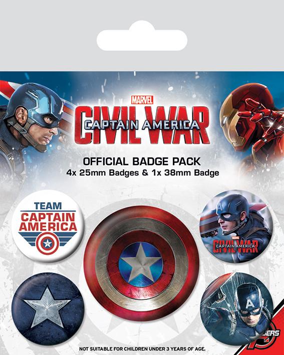 Posters Placka Captain America: Občanská válka - Captain America