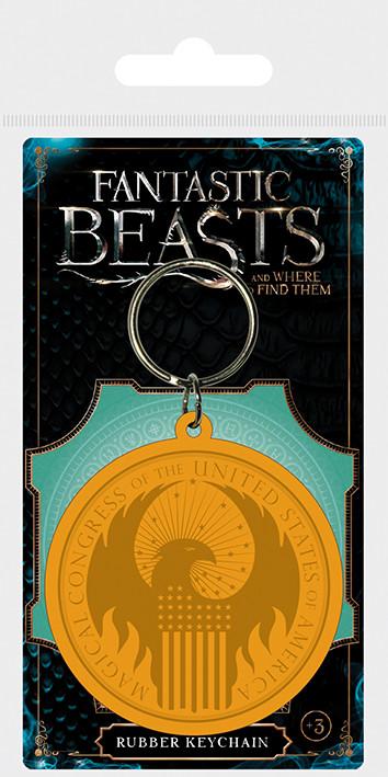 Posters Klíčenka Fantastická zvířata a kde je najít - MACUSA Logo