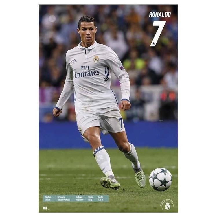 Posters Plakát, Obraz - Real Madrid 2016/2017 - Ronaldo Accion, (61 x 91,5 cm)