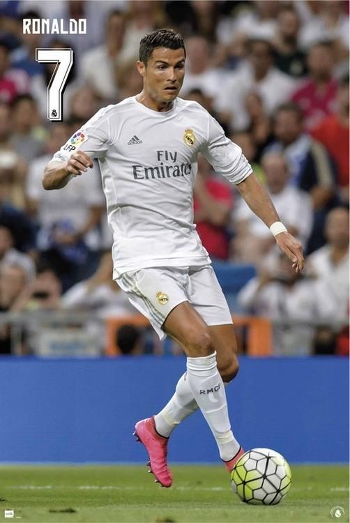 Posters Plakát, Obraz - Real Madrid 2015/2016 - Cristiano Ronaldo, (61 x 91,5 cm)