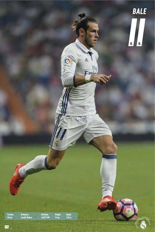 Posters Plakát, Obraz - Real Madrid 2016/2017 - Gareth Bale, (61 x 91,5 cm)