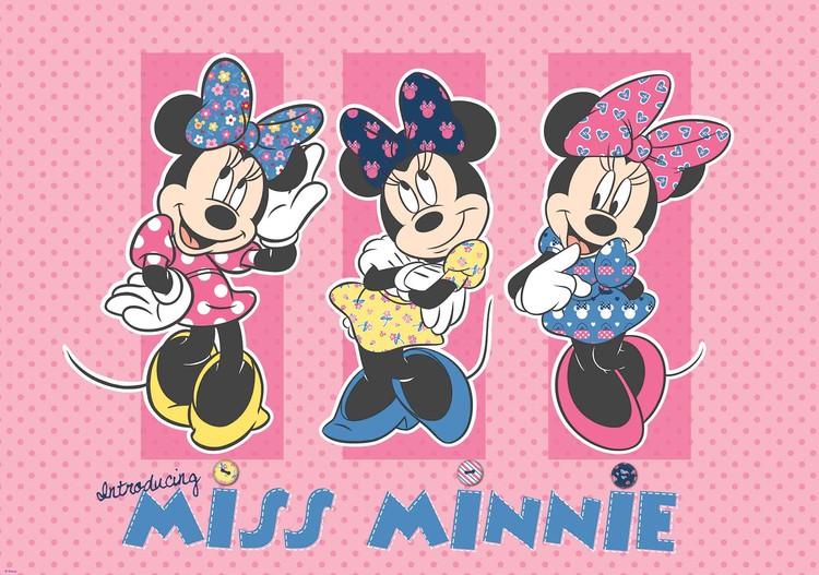 Posters Fototapeta Disney Minnie Mouse 254x184 cm115g/m2 Paper
