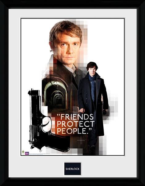 Posters Sherlock - Friends Protect rám s plexisklem